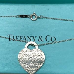 Tiffany Heart Notes Necklace